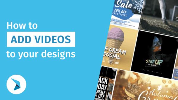 วิธีการเพิ่มวิดีโอลงในงานออกแบบของคุณ