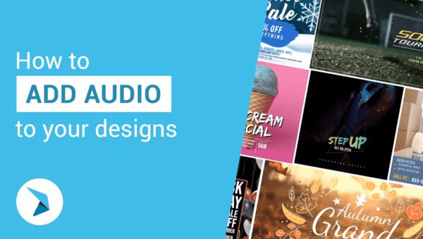 วิธีการเพิ่มเสียงลงในงานออกแบบของคุณ